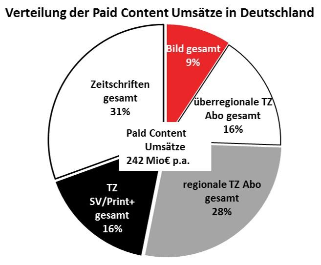 Grafik Verteilung der Paid Content-Umsätze in Deutschland